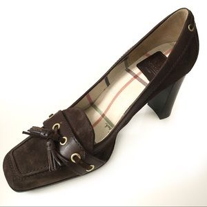 Coach Kirsty Italian Leather Suede Heels P…
